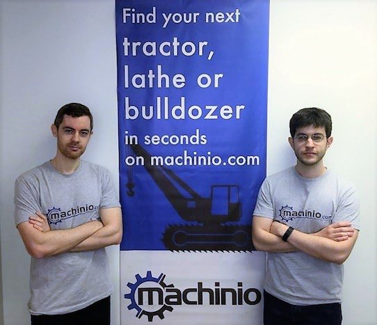 Dmitriy Rokhfeld (left) and Dan Pinto are the founders of Machinio. Photo: Machinio