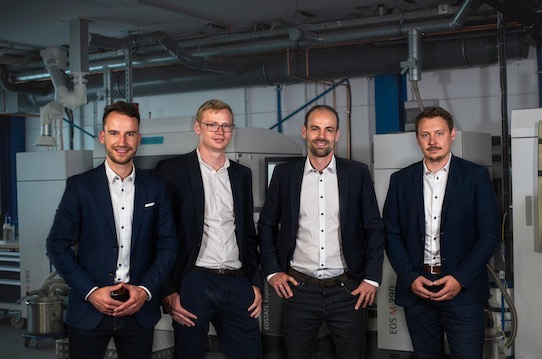The Additive Drives team at its premises in Halsbrücke near Freiberg. Photo: Additive Drives