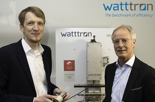 Watttron managing director Marcus Stein (left) and the new head of sales Ton Knipscheer. Photo: Watttron