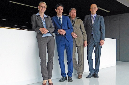 Angela Grimmer, Dr. Ronny Eckardt, Dr. Sven Eichhorn and Christoph Alt (from left to right) are the founders of Ligenium. Photo: PR/Ligenium